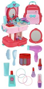 kids makeup backpack toy