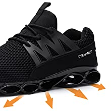 Steel Toe Shoes for Women Lightweight Slip Resistant Safety Shoes Running Sneakers Food Service Work