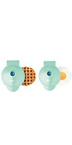 mini waffle, mini griddle, mini waffle maker, dash mini waffle maker, aqua