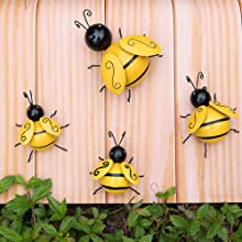 Bees on the wall