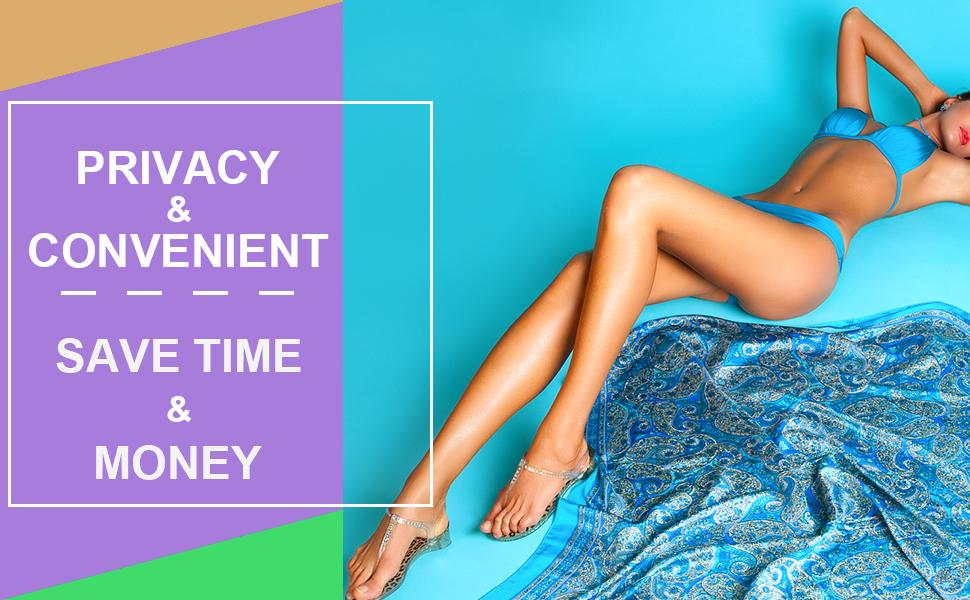 SAVE TIME & MONEY, WAXING AT HOME - MORE PRIVACY