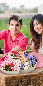 Seifenblume in Geschenkbox