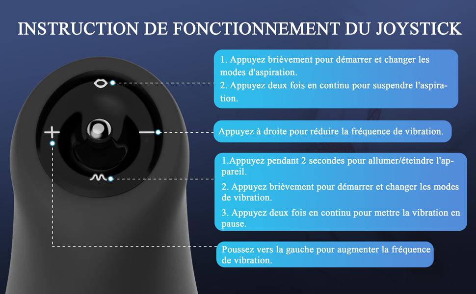 INSTRUCTION DE FONCTIONNEMENT DU JOYSTICK
