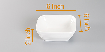 24 Ounces Square Ceramic Bowl