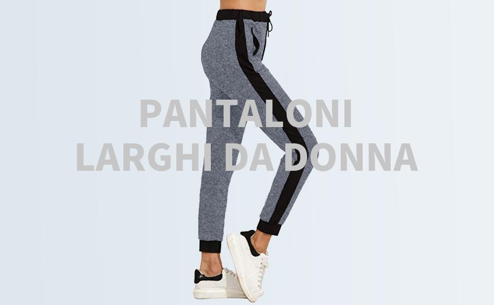 Pantaloni della tuta da donna con strisce laterali