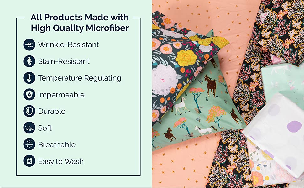 All Products Made with High Quality Microfiber
