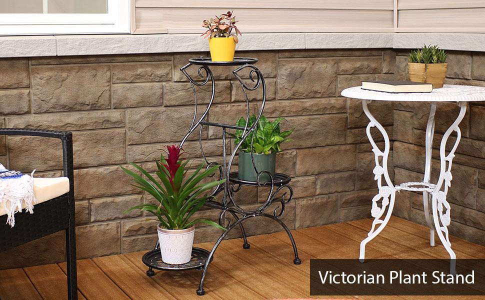 3-Tier Victorian Indoor/Outdoor Plant amp; Flower Stand