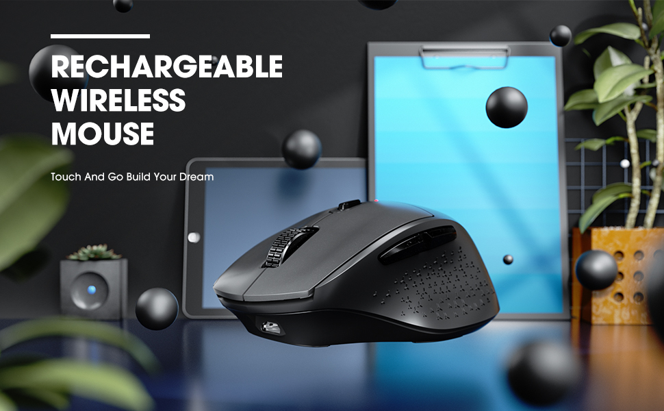 wireless mouse rechargeable mouse wireless mouse for laptop computer mouse slient mouse