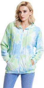 Women tie dye hoodies