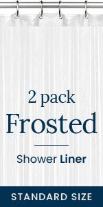 2 Pack Frosted Shower Liner