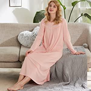long sleeve women nightgowns
