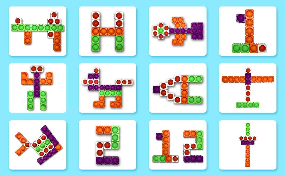 Various shapes fidget toys