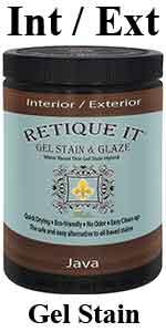 Retique It Waterbased Gel Stain amp; Glaze Hybrid