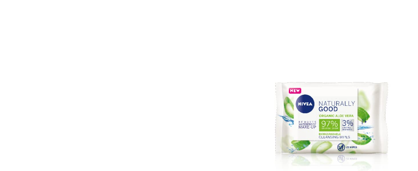 nivea, natural, face wash, cleanser, moisturiser, toner, double cleanse, organic, face wipes