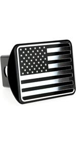 USA Chrome Flag Hitch Cover