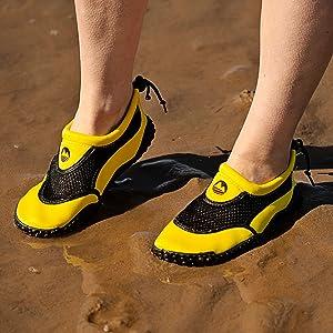 Womens aqua swim shoe lightweight outdoor swimming wild durable non-slip stretchy beach pool