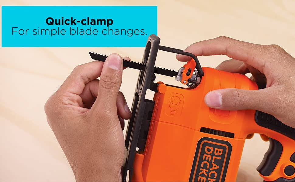 Quick-clamp - for simple blade changes