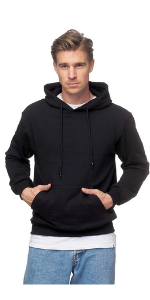 Smith & Solo Herren Kapuzenpullover Sweatshirt Pullover Rundhals – Langarm Slim Fit