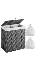 laundry hamper with lid handwoven clothes hamper