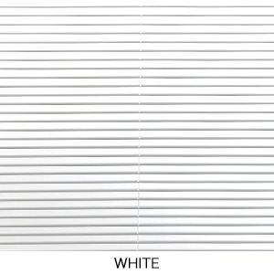 White electric blinds
