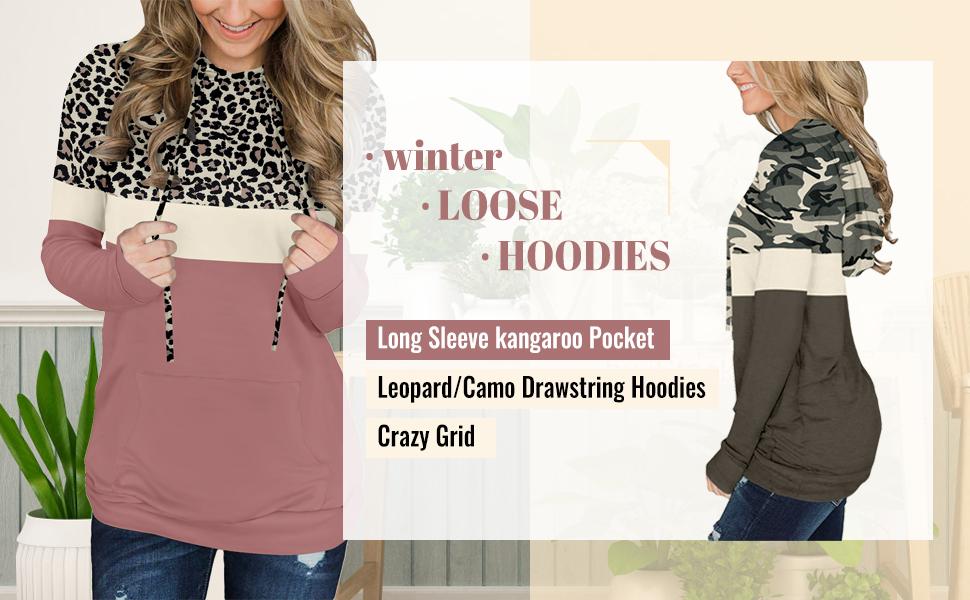women winter loose hoodie