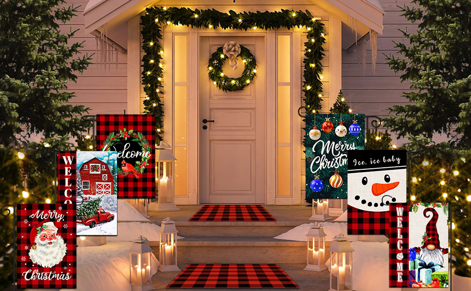 christmas flags for outdoors 12x18