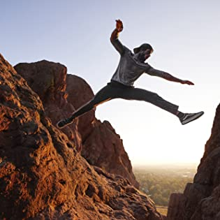 Kion athlete leaping through the air