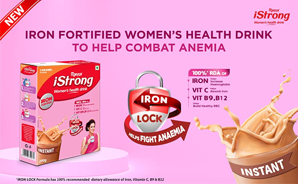 Manna iStrong - Iron Fortified Womens Health Drink to help combat Anemia
