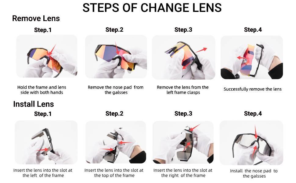 Steps of change lens