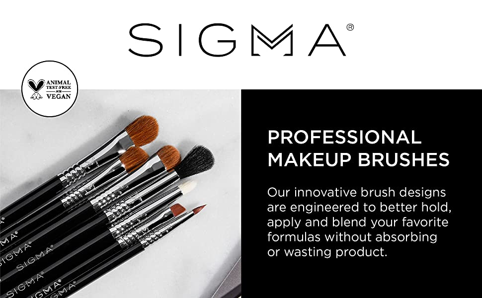SIGMA Beauty Makeup Brushes hold, apply, and blend your favorite makeup without wasting product