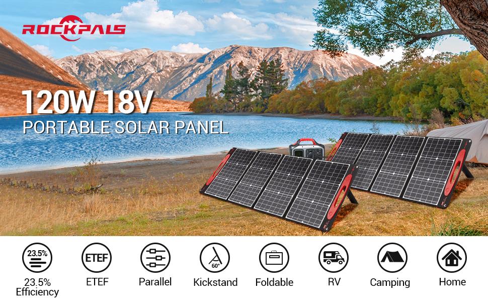 ROCKPALS-120W Solar Panel Parallel line