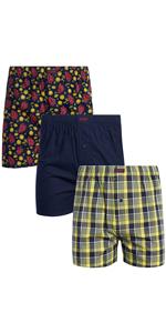 IZOD Men's Underwear - 100% Cotton Woven Boxers
