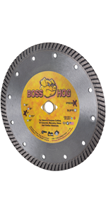 boss hog turbo diamond blade masonry concrete cutting 7 inch
