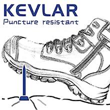 OUXX Work boots has kevlar puncture resistant