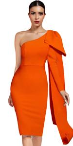 Sexy One Shoulder Bodycon Bandage Dress