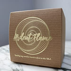 Ardent Flame Candles gold foil stamped gift box