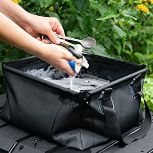 collapsible camping sink