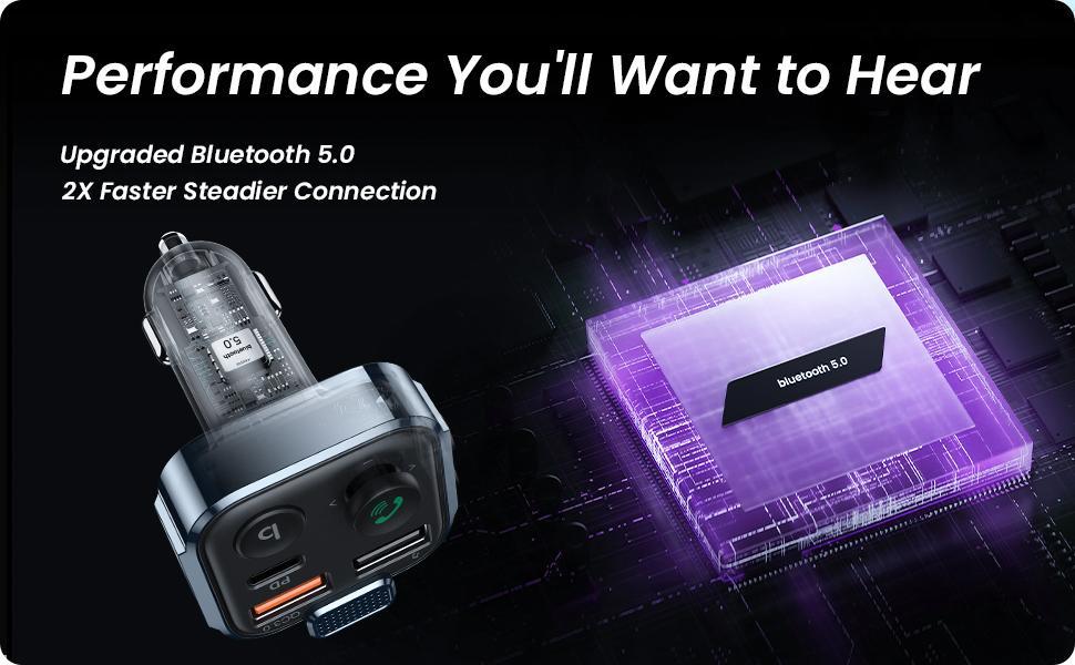 Bluetooth car adapter FM transmitter bluetooth adapter car Bluetooth Radio Transmitter Car Adapter