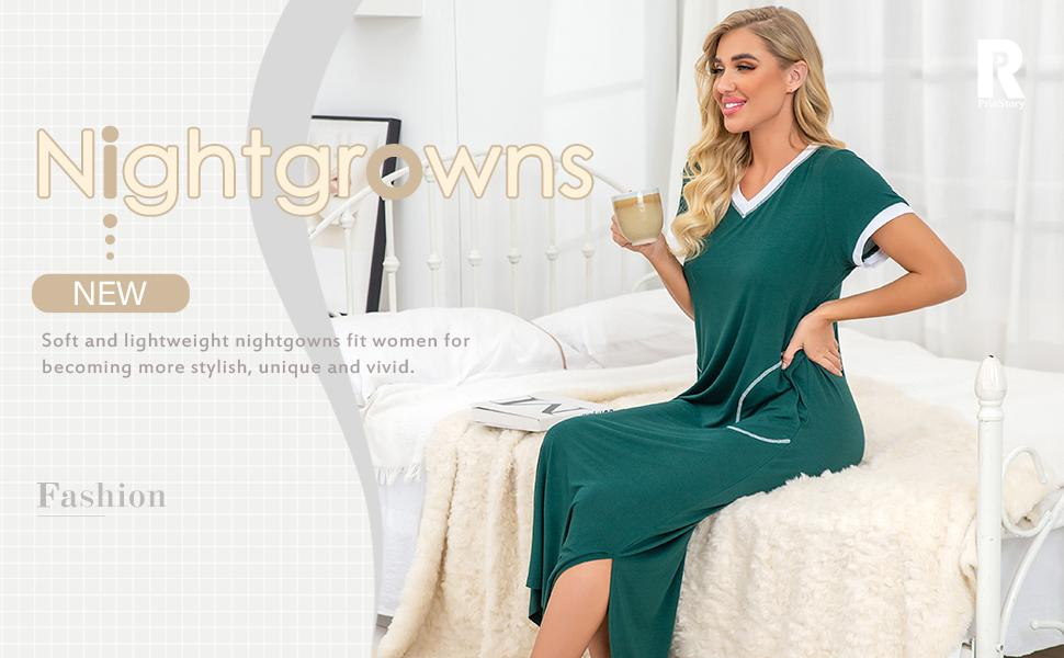 women's plus size nightgown long night gowns for women ladies sexy nightshirt