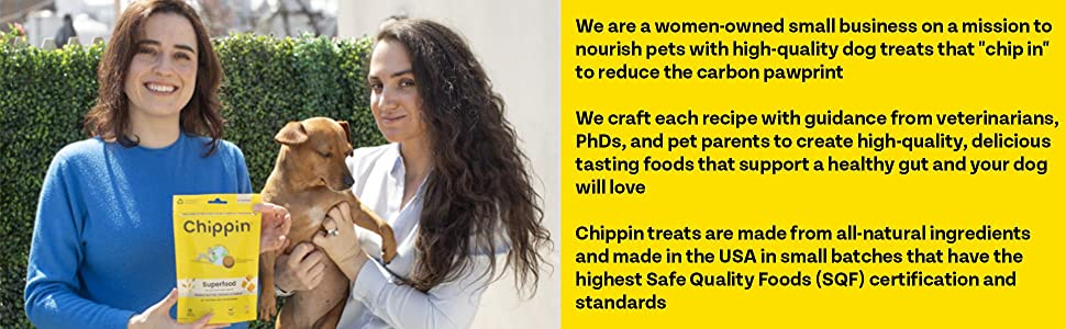women owned business quality dog treats food carbon footprint sustainable