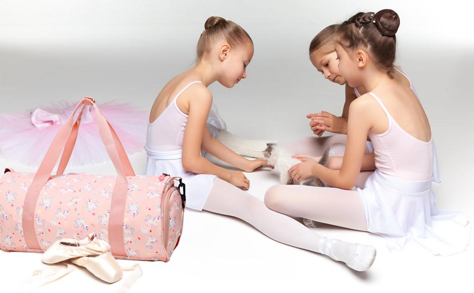 Choco Mocha Girls Duffel Dance Bag