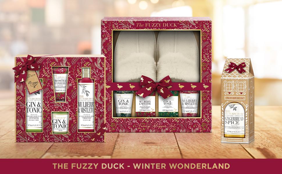 the fuzzy duck winter wonderland festive collection