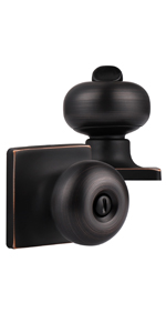 Bronze Door Knobs with Square Rosette