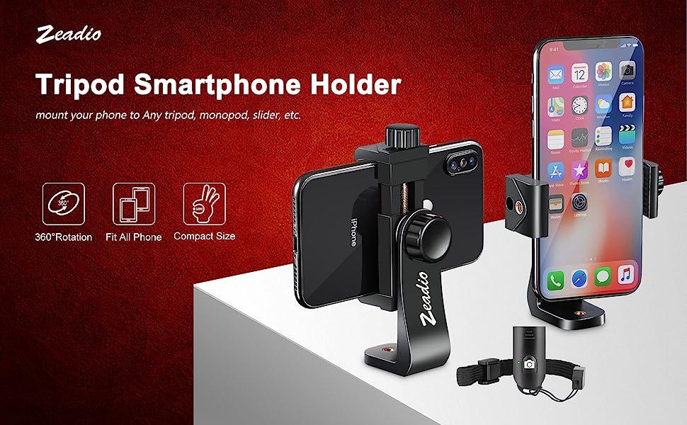 Zeadio Tripod Smartphone Mount