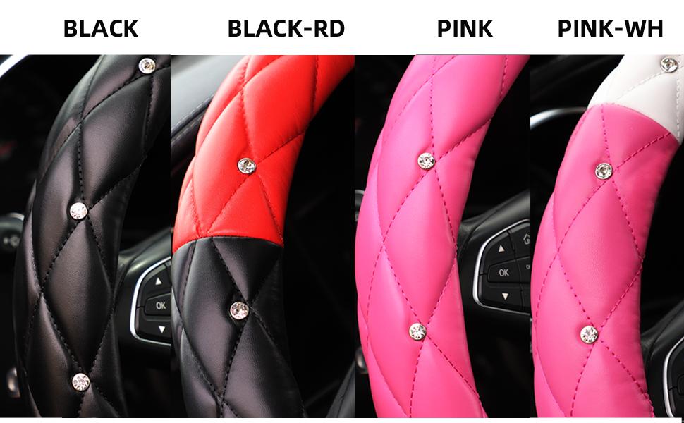 Bling Rhinestones Steering Wheel Cover