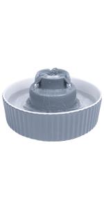 Leewakia 71oz/2.1L Ceramic Cat Water Fountain