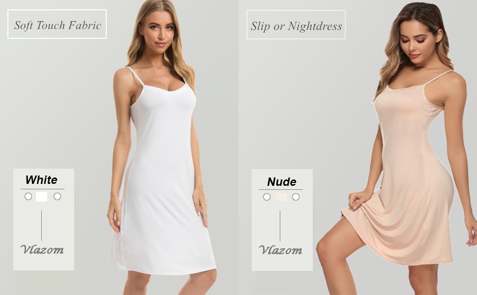 Vlazom Women Full Slips Sexy Soft Under Dress