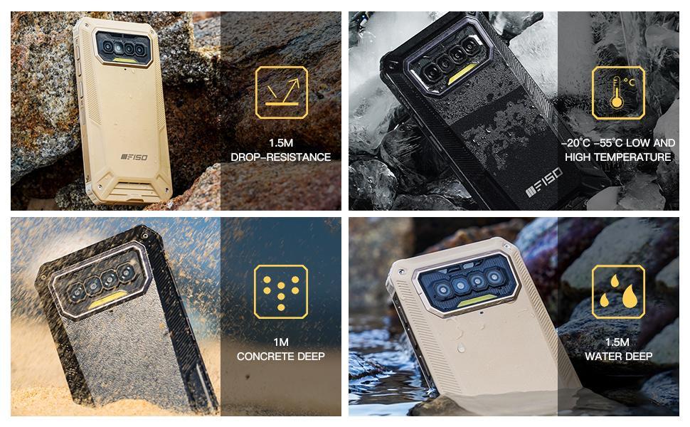 Durable, Rugged, Water Resistant,Waterproof,Drop-proof,tough,IP68 / IP69K