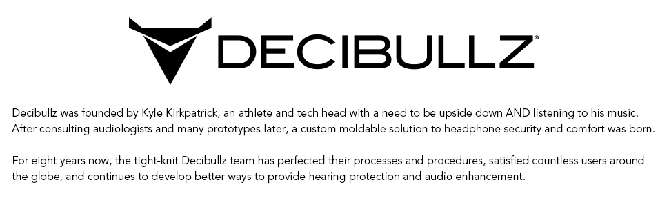 Decibullz Custom Molded Security Radio Surveillance Earpiece Set