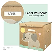 We have a label window on the front which allows you to easily organize your home!
